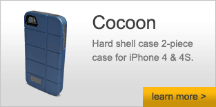 Cocoon - Hard shell case 2-piece case for iPhone 4 & 4S - Learn More
