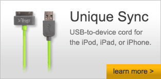Unique Sync - USB-to-device cord for the iPod, iPad, or iPhone  - Learn More